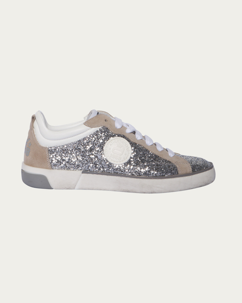 sneaker freizeitschuhe corvari sneaker mit glitzer optik in silber. Black Bedroom Furniture Sets. Home Design Ideas