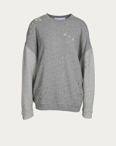 IRO Pullover Utropy destroyed in Grau