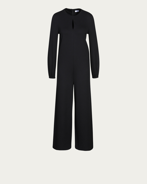 HARRIS WHARF LONDON Overall Drop Collar in Schwarz
