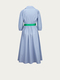 LA FEE MARABOUTEE Blusen-Kleid in Blau-Grau