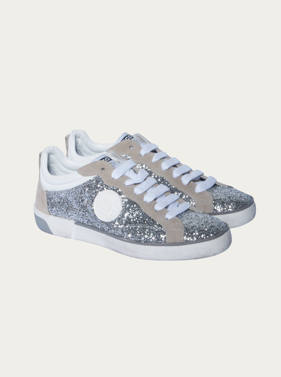 schuhe corvari sneaker mit glitzer optik in silber. Black Bedroom Furniture Sets. Home Design Ideas