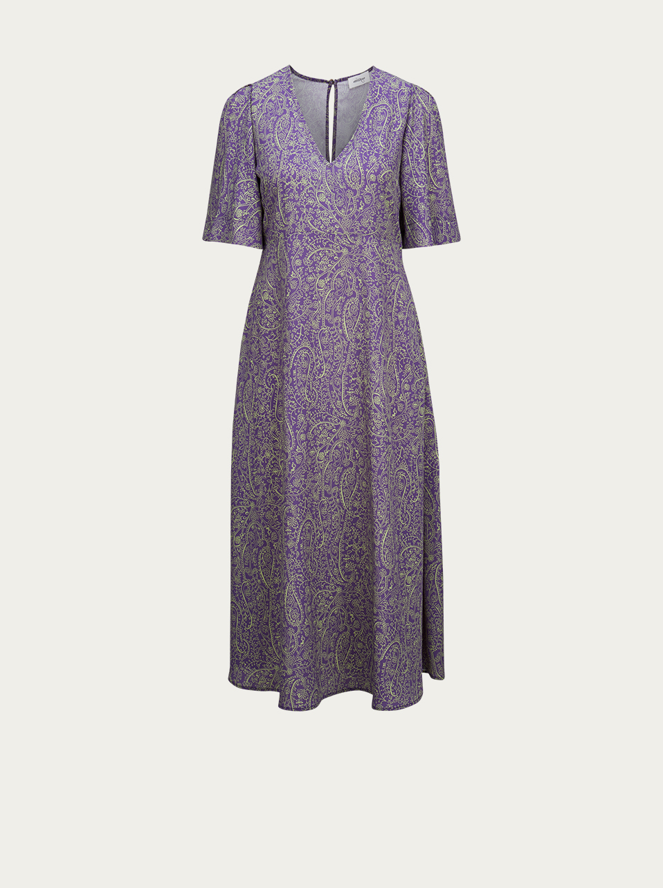 OTTOD' AME Kleid mit Paisley-Muster in Lila-Grün
