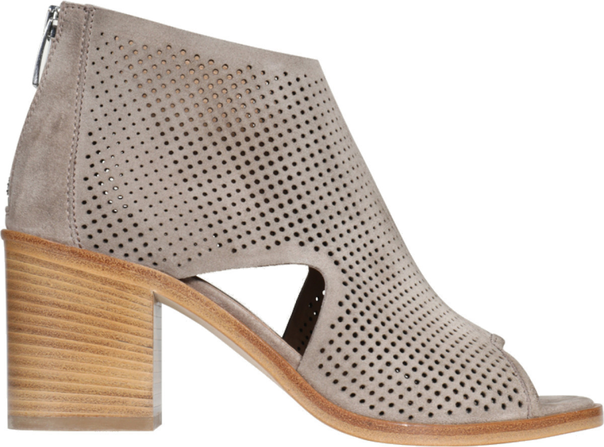 Janet&Janet Stiefelette Bahamas mit Lochmuster taupe 427287